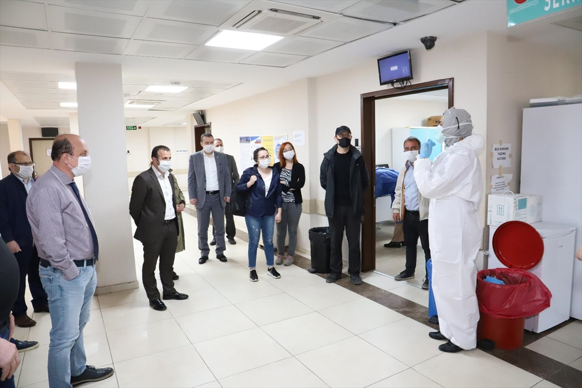 Trabzon'da gazetecilerin Kovid-19 testleri negatif çıktı