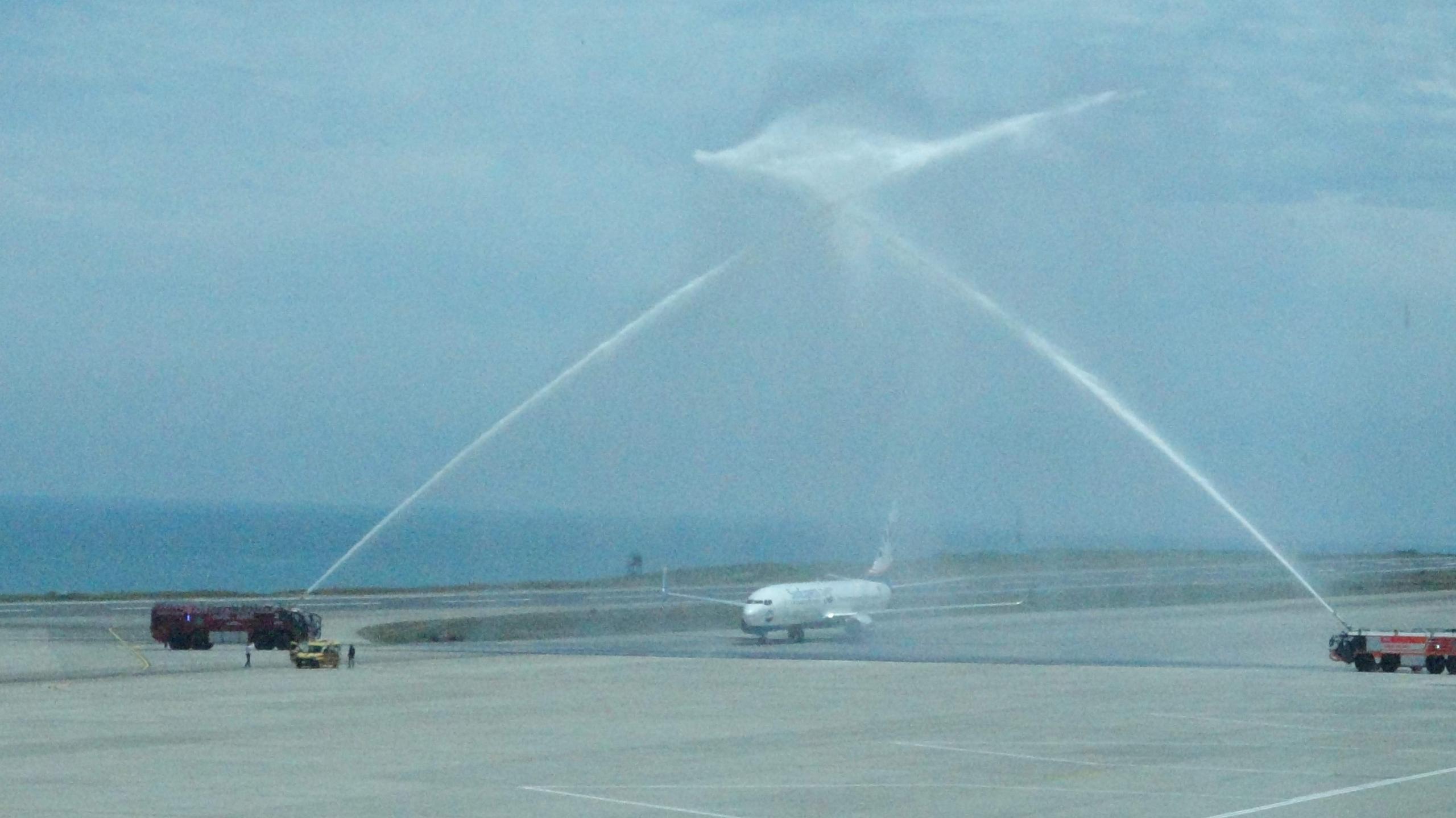 Korona virüs sürecinin ardından Trabzon Havalimanı'na uzun bir zaman sonra ilk tarifeli uçak seferi dün gerçekleşti