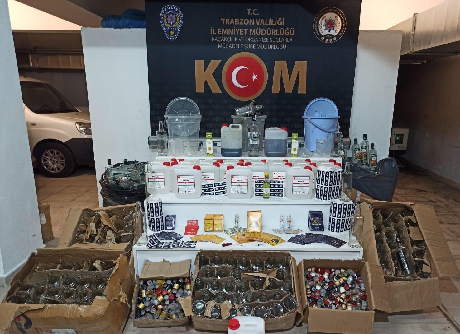 Sahte ve kaçak alkol üreten yabancı uyruklu şahıslar yakalandı