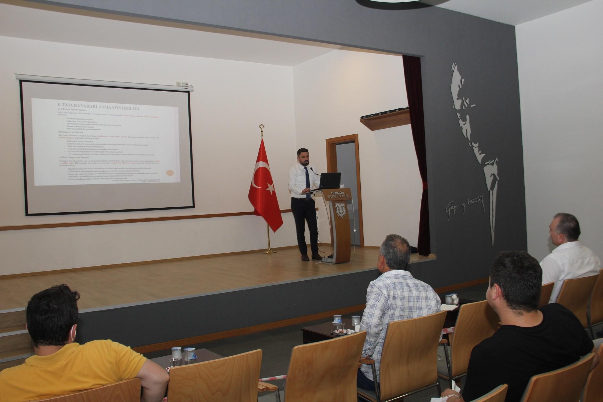 Trabzon Ticaret Borsası'ndan üyelere 'E-Uygulamalar' semineri