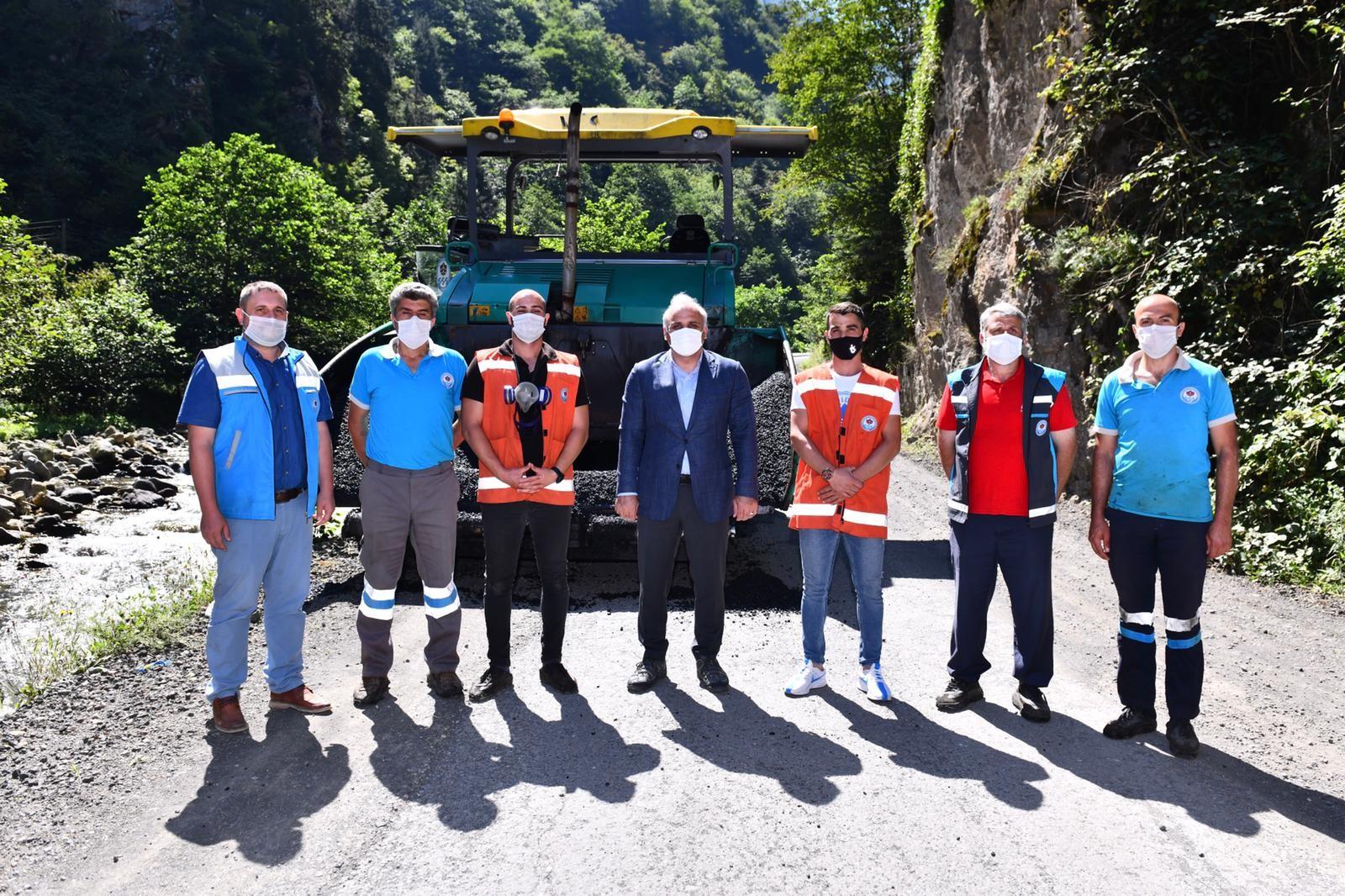 Başkan Zorluoğlu Santa Grup Yolu'nda incelemelerde bulundu