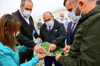 Trabzon'da Harmantepe Şehitliği'nde çevre düzenleme çalışmaları devam ediyor