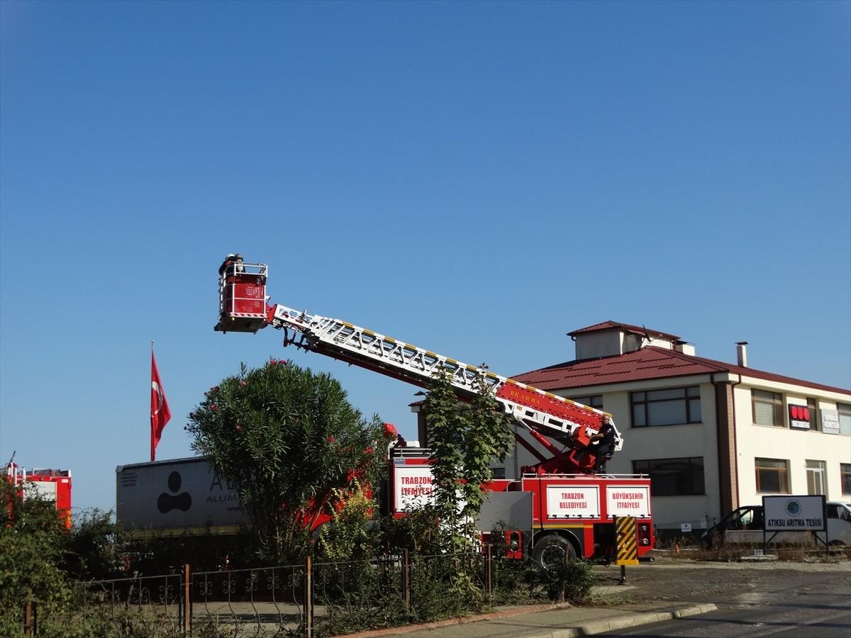 Arsin Organize Sanayi Bölgesinde yangın tatbikatı yapıldı