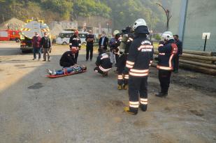 Trabzon'da acil durum tatbikatı gerçekleştirdi