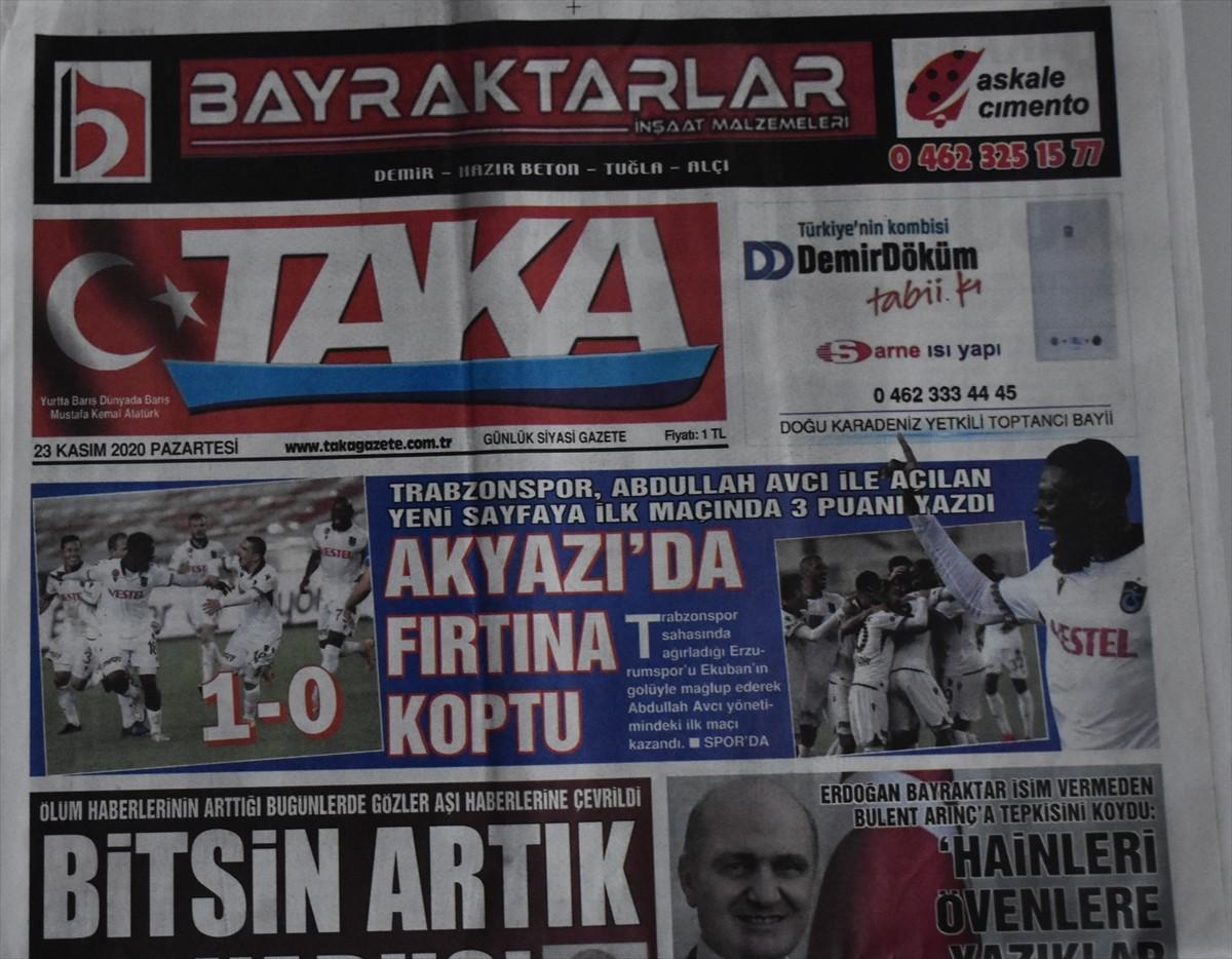 Trabzon yerel basınında galibiyet sevinci ve teknik direktör Avcı'ya övgü