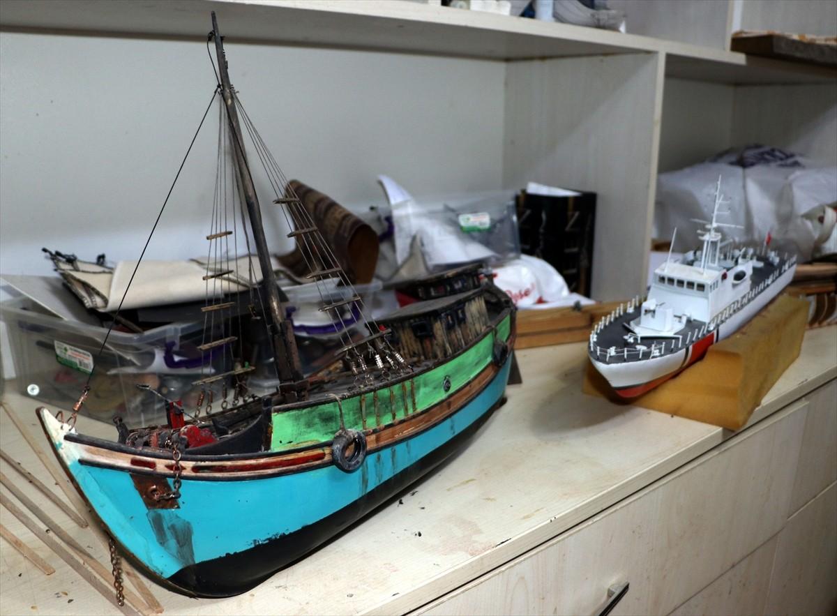 """Çocukluk oyuncağı """"maket gemiler"""" mesleği oldu"""