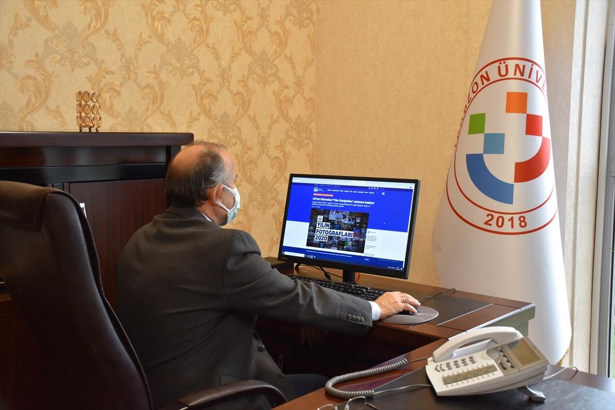 """Trabzon Üniversitesi Rektörü Prof. Dr. Aşıkkutlu AA'nın """"Yılın Fotoğrafları"""" oylamasına katıldı"""
