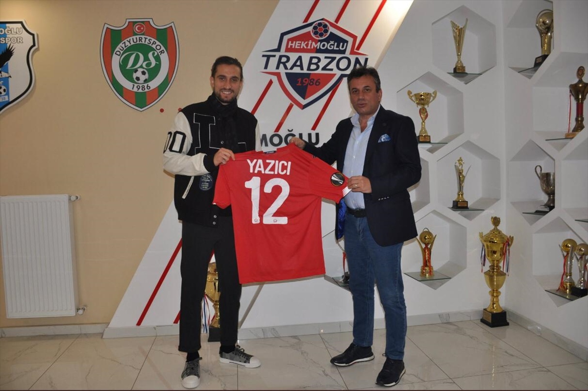 Fransa'nın Lille takımında forma giyen Yusuf Yazıcı, Hekimoğlu Trabzon FK'yı ziyaret etti