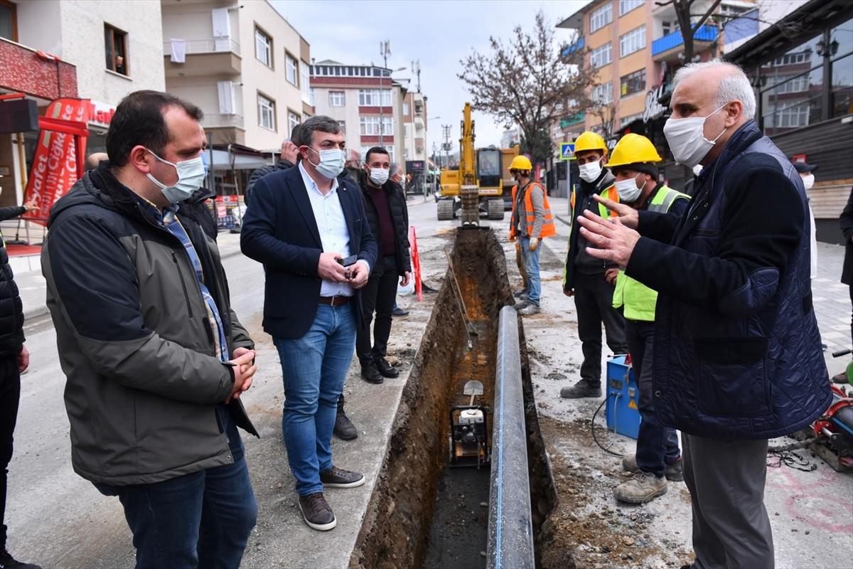 Trabzon'un içme suyu hattı yenileme çalışmaları devam ediyor