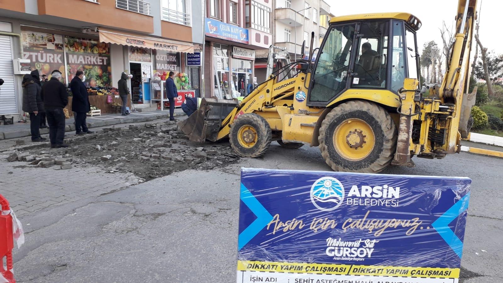 ARSİN'DE ALT YAPI ÇALIŞMALARI BAŞLADI!