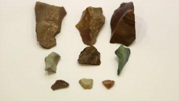 Trabzon'da mağarada yaklaşık 13 bin yıl öncesine ait olduğu düşünülen taş parçaları bulundu