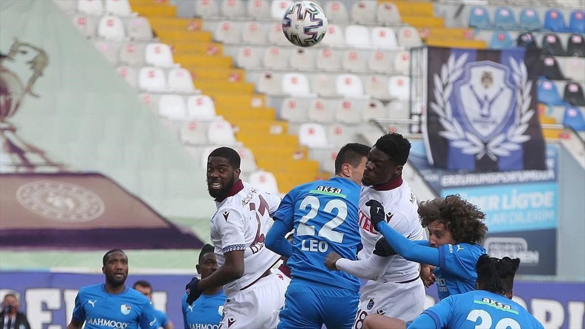 Trabzonspor Erzurum'dan 1 puanla döndü