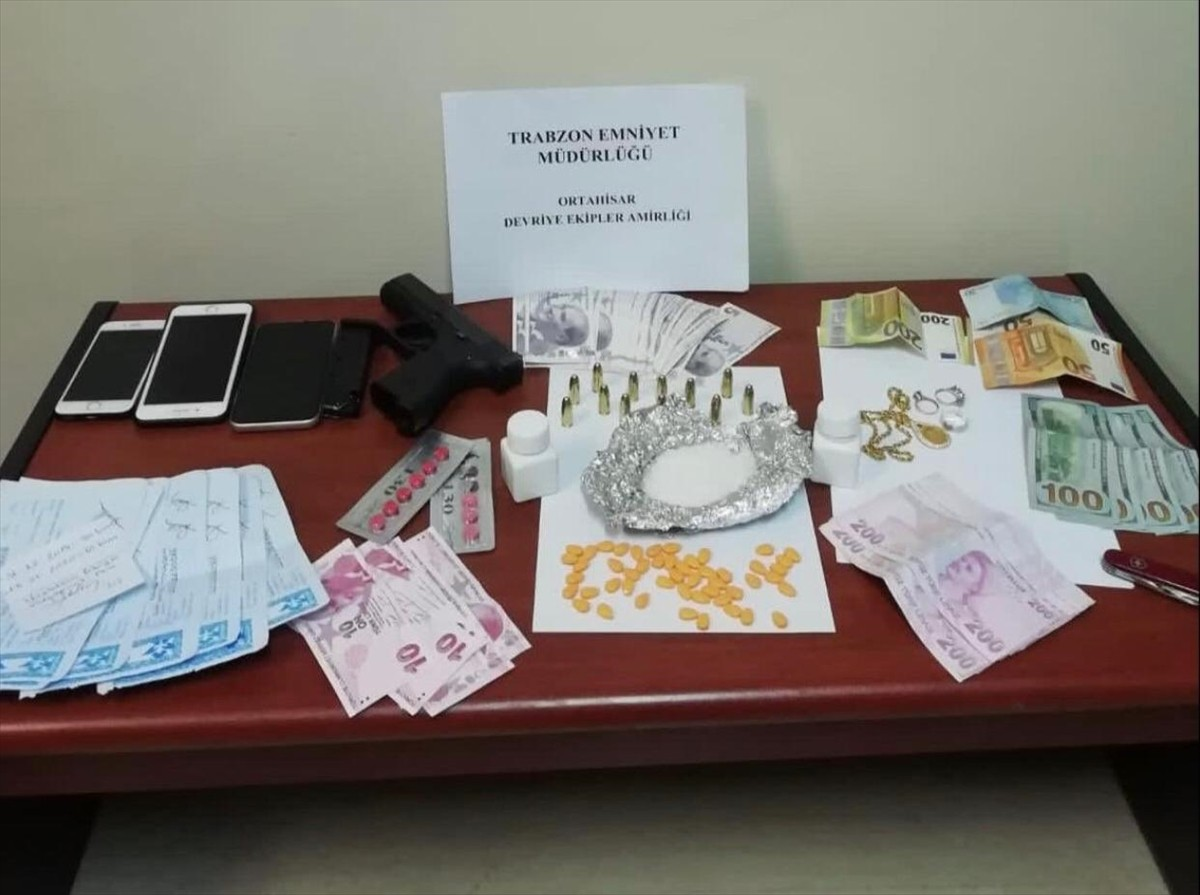 Trabzon'da uyuşturucu operasyonunda bir kişi yakalandı