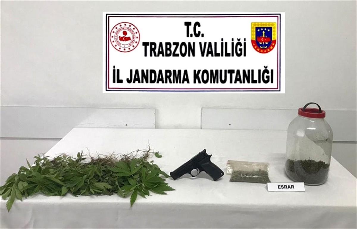 Trabzon'da uyuşturucu operasyonunda gözaltına alınan kişi tutuklandı
