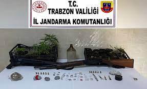 Trabzon'da uyuşturucu madde imalatı ve ticareti yapan kişi yakalandı