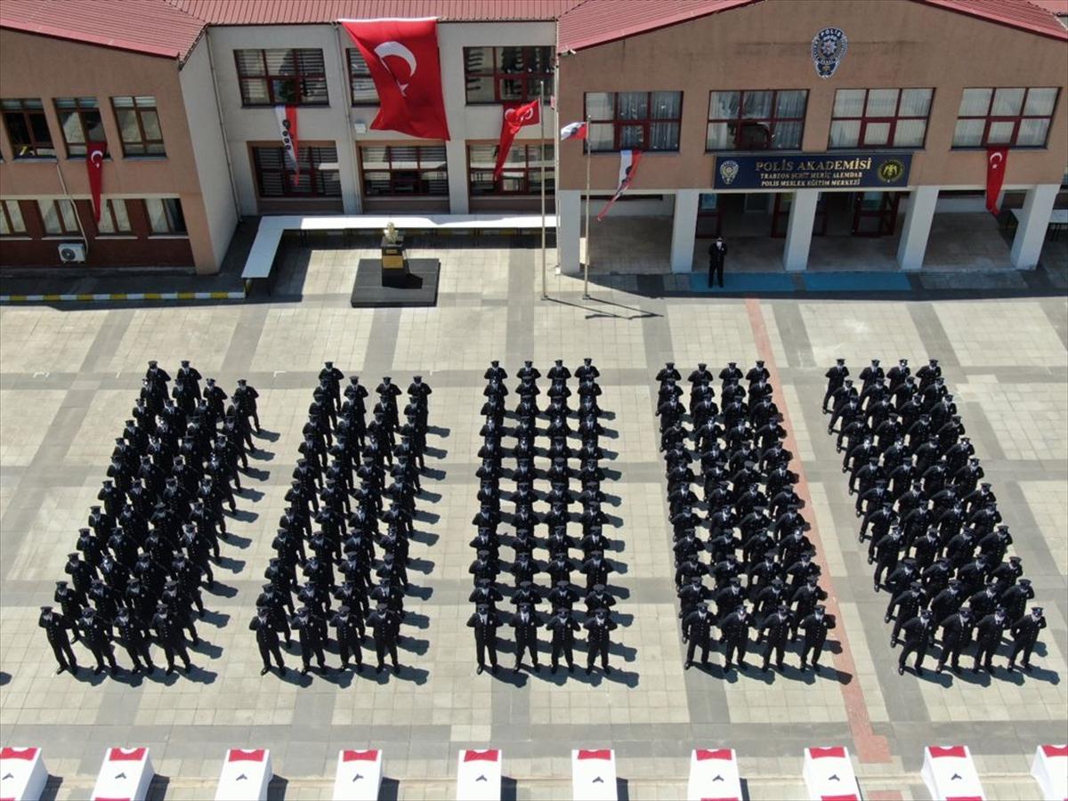 Trabzon'da 240 polis adayı mezun oldu