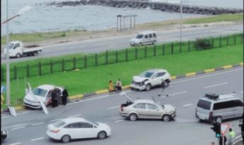 Yeşilyalı (Falkoz) Kavşakta kaza