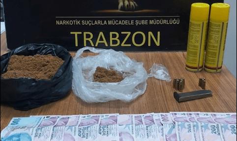 Trabzon'da uyuşturucu operasyonlarında 2 kişi yakalandı